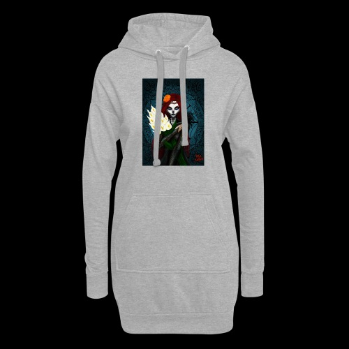 Death and lillies - Hoodie Dress