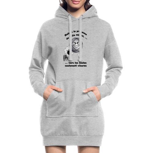 t shirt pétanque belle mere tireur boule humour FC - Sweat-shirt à capuche long Femme