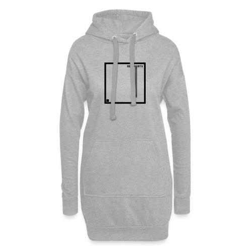 Tecnica cuadrada - Sudadera vestido con capucha