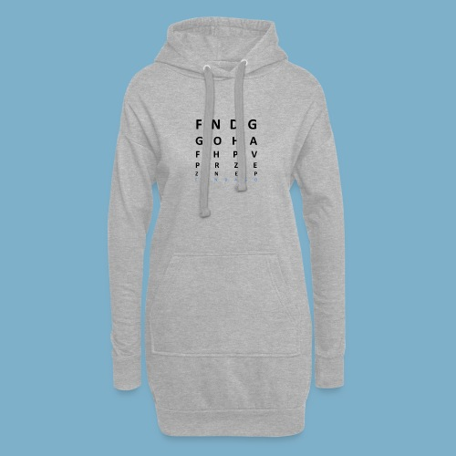 Fundago Label Motiv - Hoodie-Kleid
