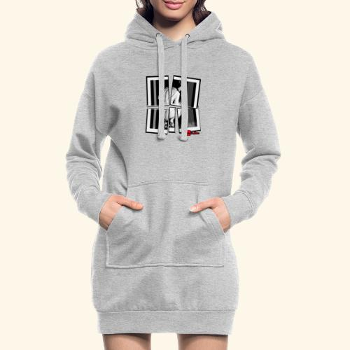 asia art 3 - Sweat-shirt à capuche long Femme