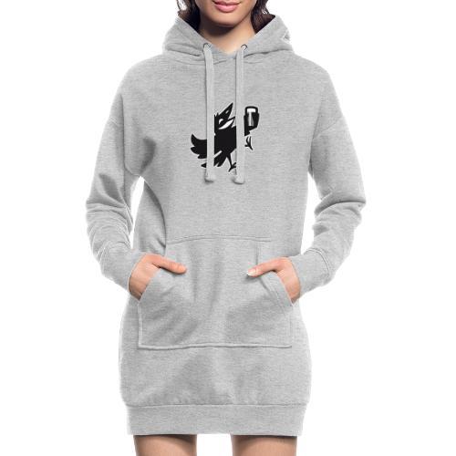 leichtsinn_Vogel_Rand - Hoodie-Kleid