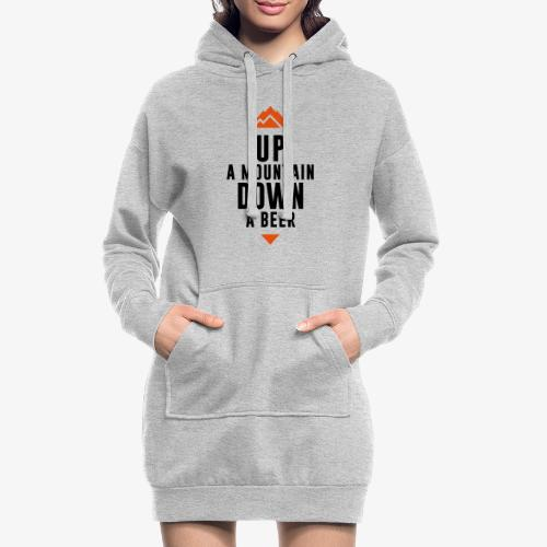 UP Mountain Down Beer - Sweat-shirt à capuche long Femme