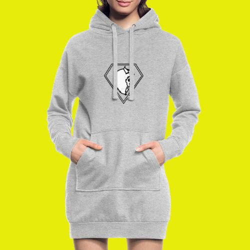 logo white - Hoodie Dress