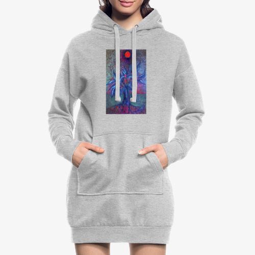 DrzewoKwiat - Długa bluza z kapturem
