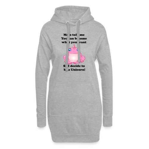 frogunicorn - Sweat-shirt à capuche long Femme