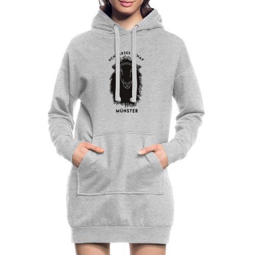 Schwarzes Schaf Logo & Schrift - Hoodie-Kleid