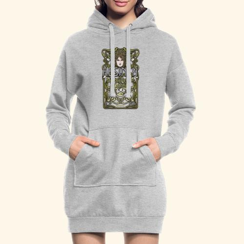 Absinth Your Daily Greens in a Bottle Art Nouveau - Hoodie-Kleid