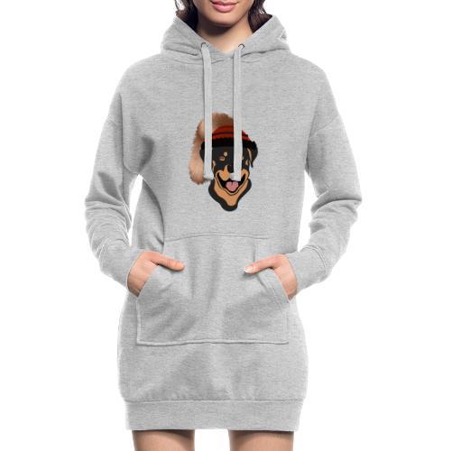 Rottweiler mit Wadelkappe - Hoodie-Kleid