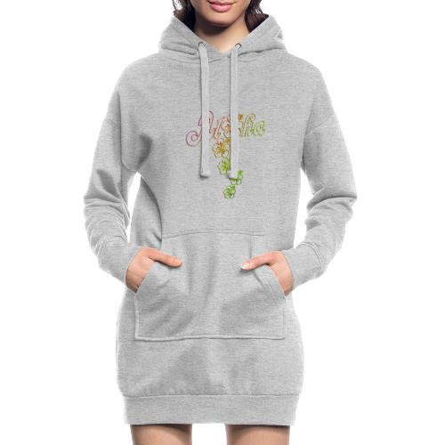 Aloha Hibiscus Blossoms - colored outlines - Hoodie-Kleid