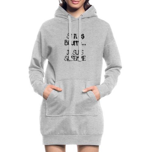 Si il es bourré - Sweat-shirt à capuche long Femme