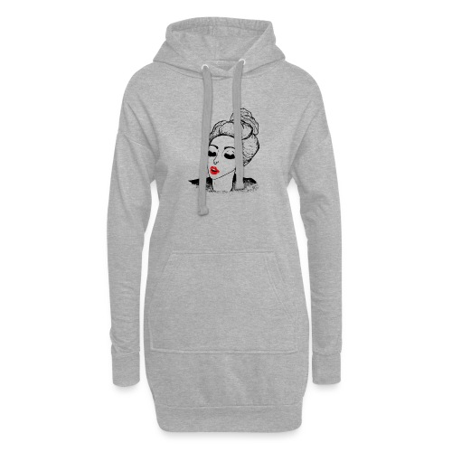 Vintage Retro Girl Kiss message - Hoodie Dress