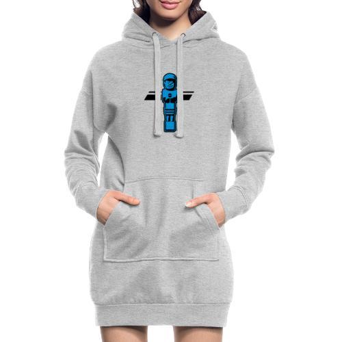 Soccerfigur 2-farbig - Kickershirt - Hoodie-Kleid