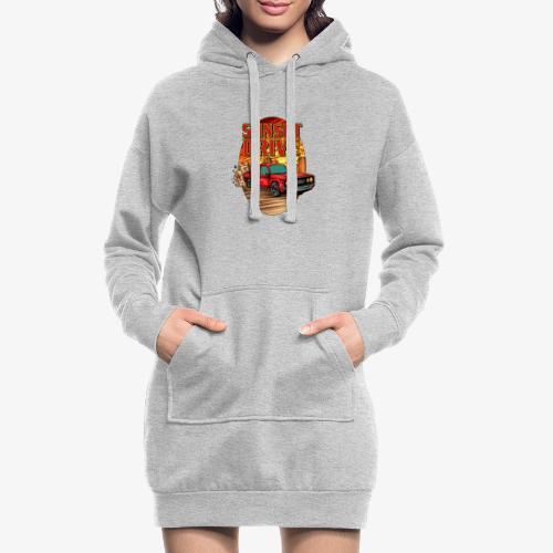 Sunset Drive - Sweat-shirt à capuche long Femme