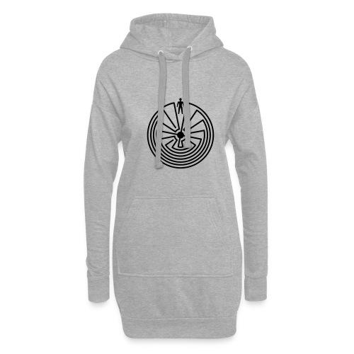 Schamanisches Symbol - Man In The Maze - Hoodie-Kleid