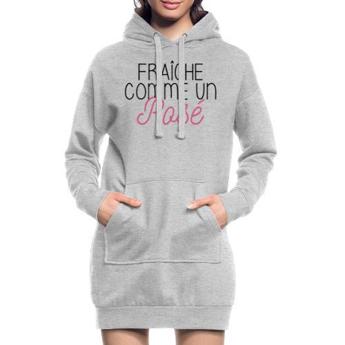 FRAICHE COMME UN ROSÉ - Sweat-shirt à capuche long Femme