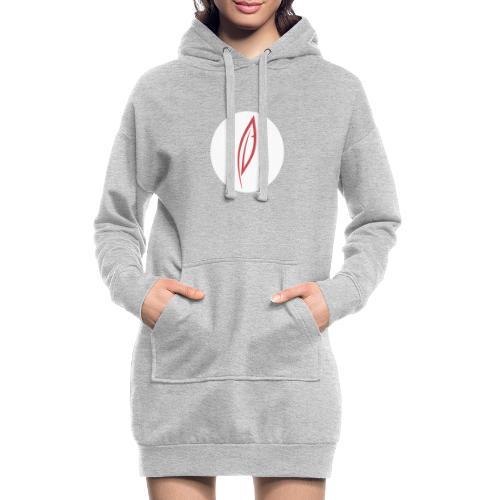 Logo - Rond blanc - Sweat-shirt à capuche long Femme