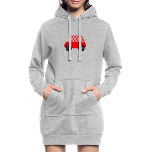 The Car Of Life - M01, Sacred Shapes, Red/R01. - Hoodie Dress