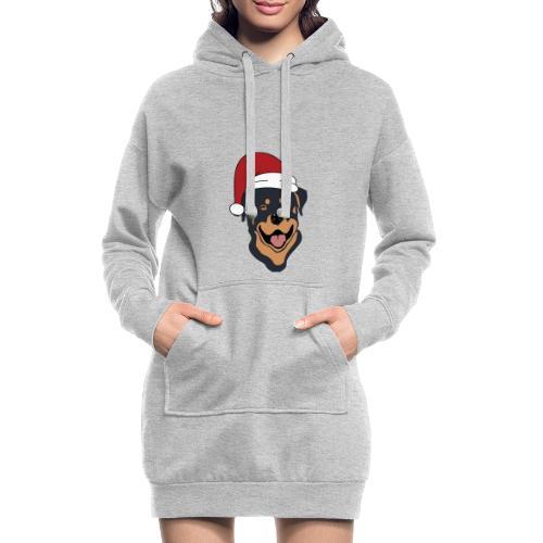 Weihnachtsmann Rottweiler - Hoodie-Kleid