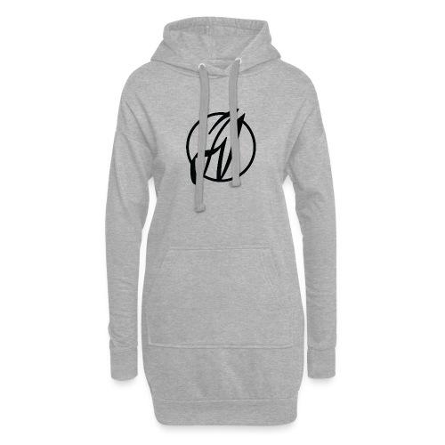 JV Guitars - logo noir - Sweat-shirt à capuche long Femme