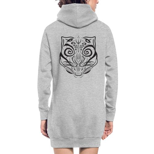 The Parvati Cat by Stringhedelic - Black - Hoodie Dress