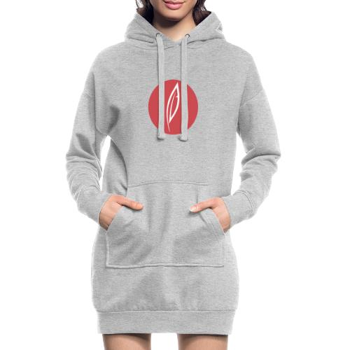 Logo - Rond rouge - Sweat-shirt à capuche long Femme