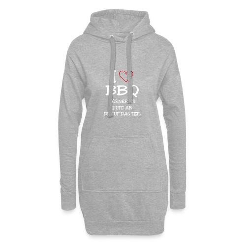 BBQ: I LOVE BARBECUE - Hoodie-Kleid