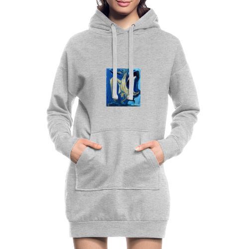 TIAN GREEN Welt Mosaik - AT042 Blue Passion - Hoodie-Kleid