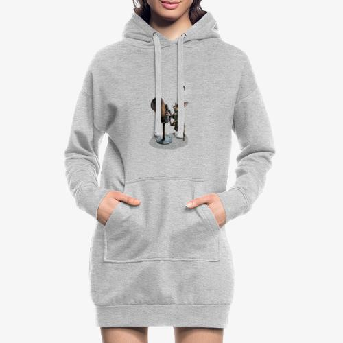 Stargazing Hare - Hoodie Dress
