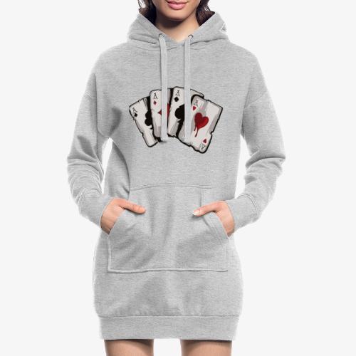 4 Asse und die NUTS - Hoodie-Kleid