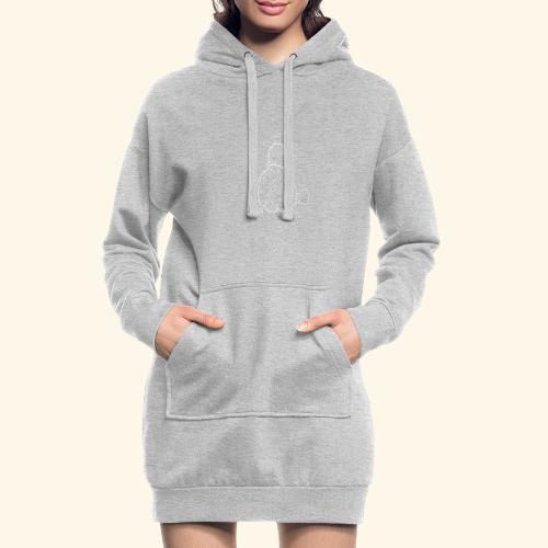 Schafbock: Bockig - weiß - Hoodie-Kleid