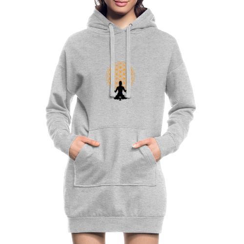fleur de vie yoga 3 - Sweat-shirt à capuche long Femme