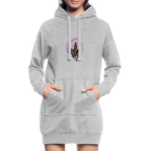 fleur de vie fée - Sweat-shirt à capuche long Femme