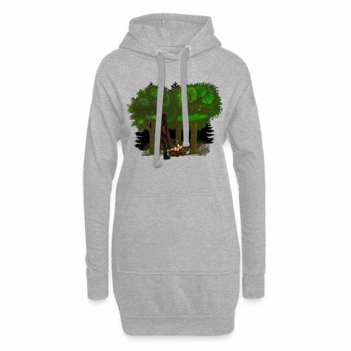 Bigfoot Campfire Forest - Hoodie Dress