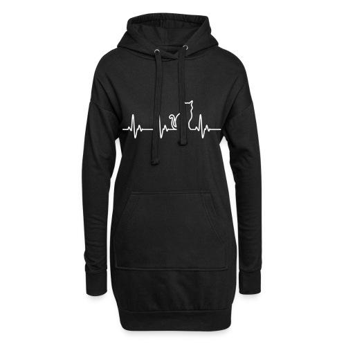 Vorschau: Ein Herz für Katzen - Hoodie-Kleid