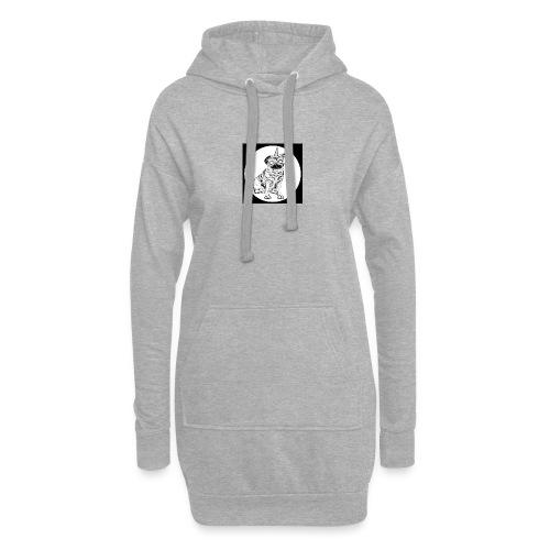 rysunek Pies-Jednorożec - Długa bluza z kapturem