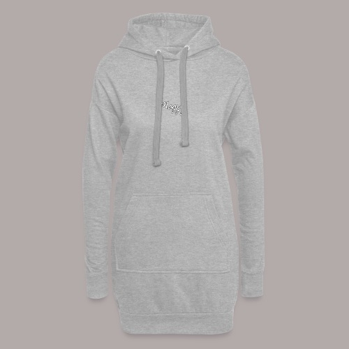 magzy white and black outline writing - Hoodie Dress