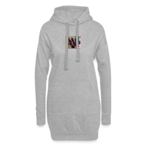 Buso gris - Sudadera vestido con capucha