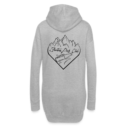 logo1 - Sweat-shirt à capuche long Femme