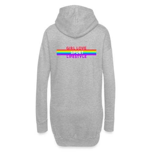 girl love sport life style rainbow - Sweat-shirt à capuche long Femme