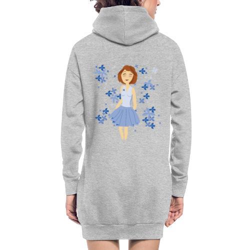 Bloemenmeisje - Sweat-shirt à capuche long Femme