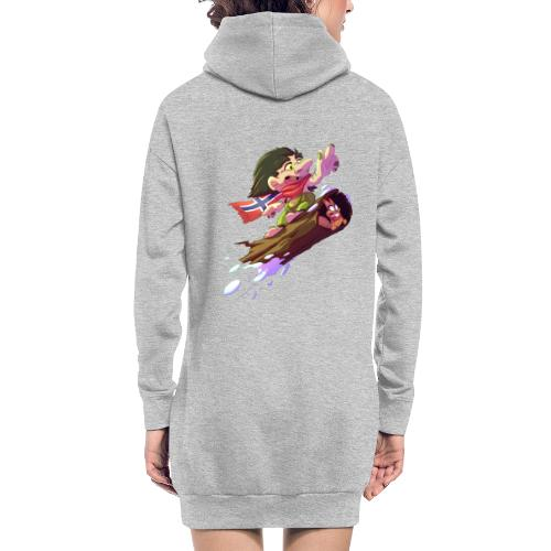 Snowboarder troll - Hoodie Dress