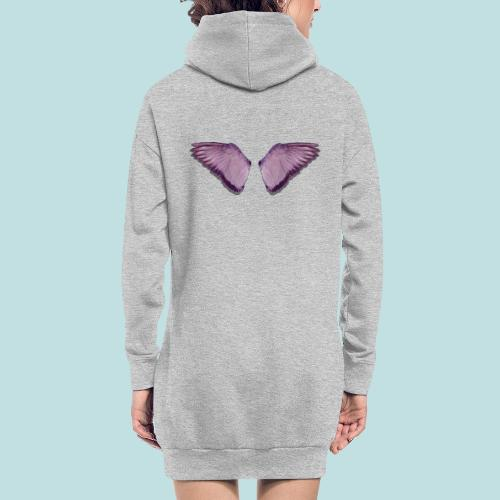 Angel wings print - Hoodie Dress