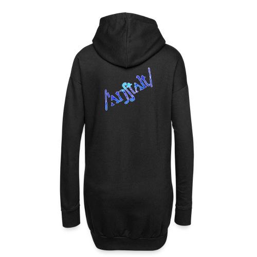 /'angstalt/ logo gerastert (blau/weiss) - Hoodie-Kleid