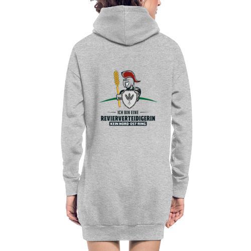 Revierverteidigerin rot - Hoodie-Kleid