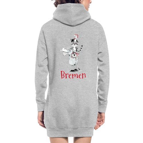 Bremer Stadtmusikanten - Hoodie-Kleid