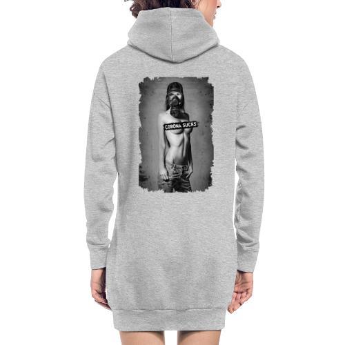 Sexy Girl mit Gasmaske - CORONA SUCKS - Hoodie-Kleid
