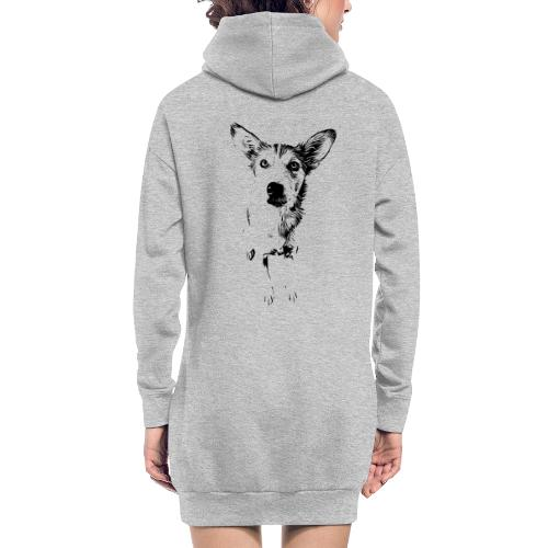 Podenco-Mischling / Hunde Design Geschenkidee - Hoodie-Kleid