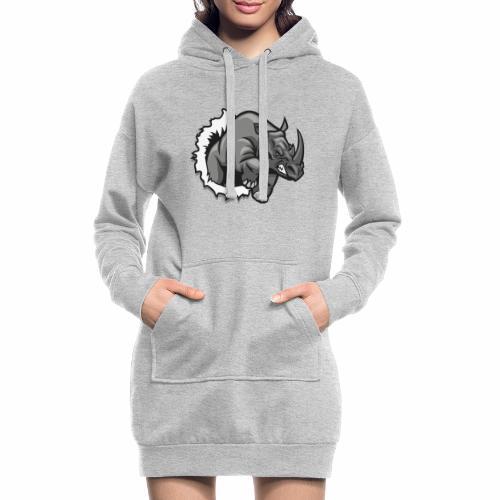 Méchant rhinocéros - Sweat-shirt à capuche long Femme