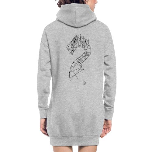 Jormundgard - Geometrisk lineart - Hoodie-kjole